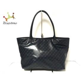 ゲラルディーニ GHERARDINI トートバッグ 黒×ダークネイビー PVC(塩化ビニール)×レザー 新着 20191004