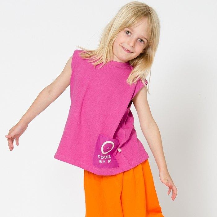 【北歐童裝】瑞典有機棉透氣寬褲長褲3歲至10歲 橘色