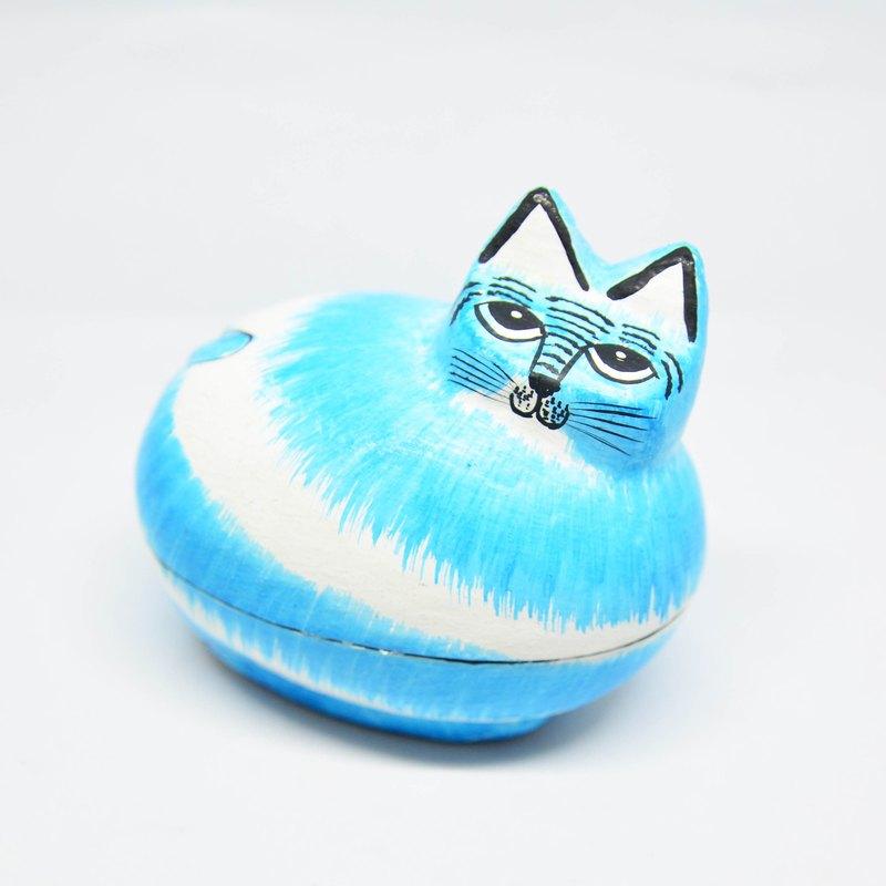 紙上動物盒-藍貓-公平貿易