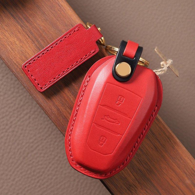 【瘋匠】全手工製作 For Peugeot寶獅標志/DS車鑰匙皮套 創意禮品
