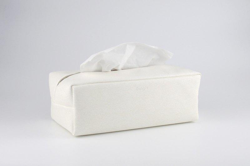 抽取式面紙盒 簡約防水環保皮革衛生紙巾盒 藍色