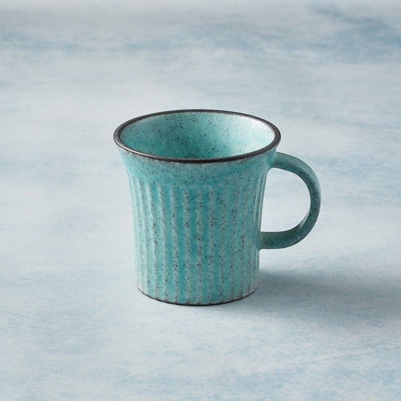 有種創意 - 日本美濃燒 - 古典雕紋咖啡杯 - 土耳其藍