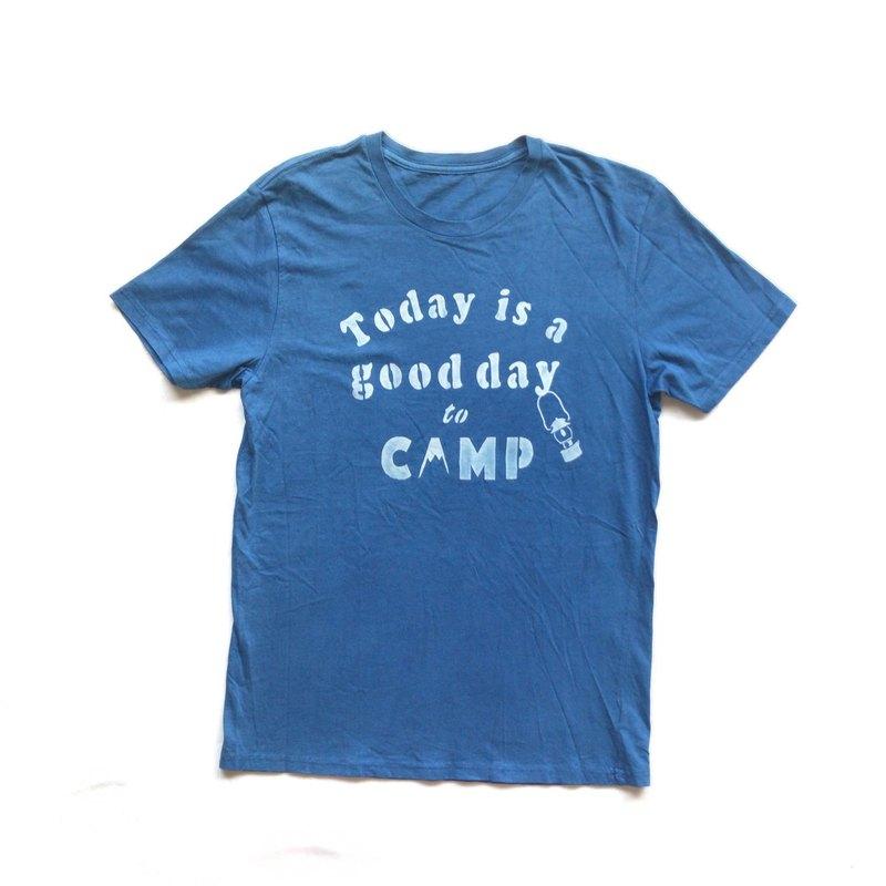 今天的Aizen是CAMP TEE-靛藍染料有機棉的好日子