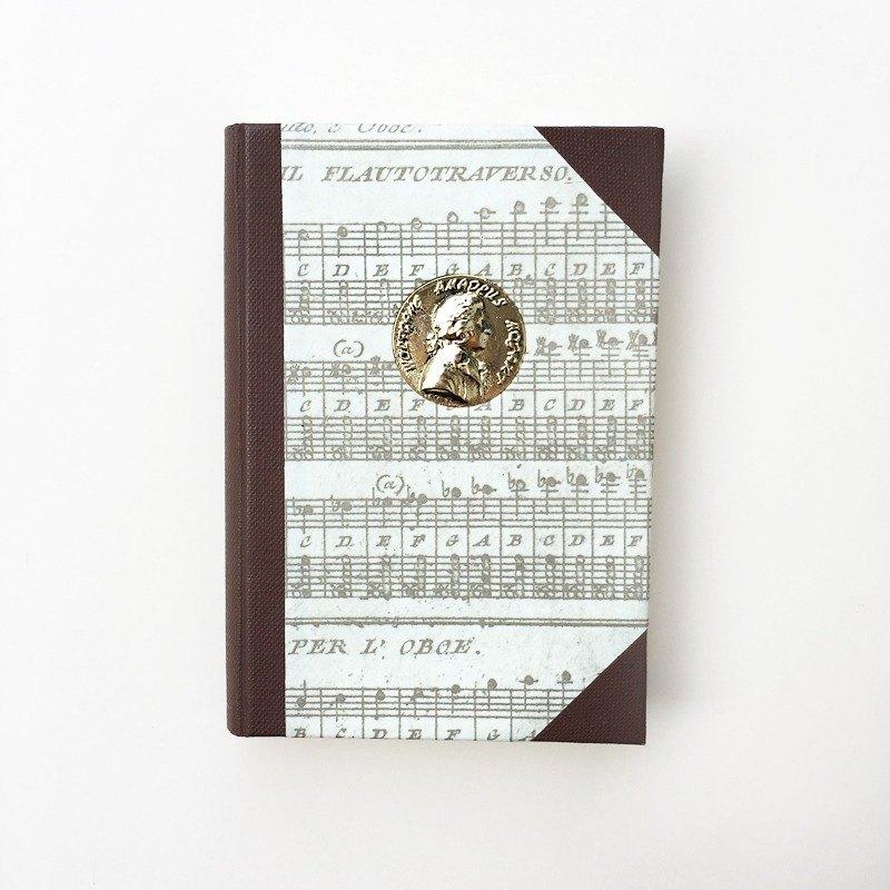 MOZART莫札特紀念空白精裝筆記本 | Francesco Rubinato