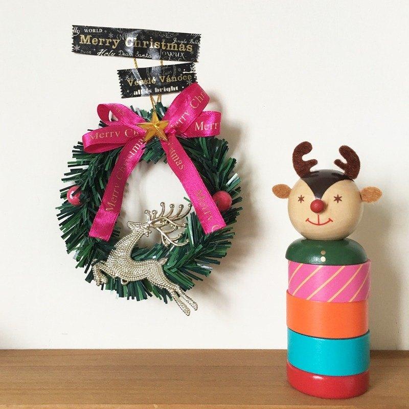 maste Xmas 聖誕木偶和紙膠帶組【麋鹿(MST-MKT171-C)】