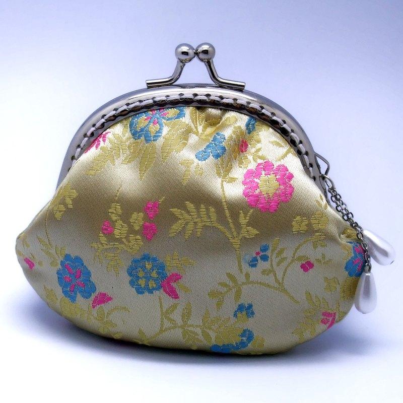 碎花絲錦緞口金包 零錢包 (CS-003)