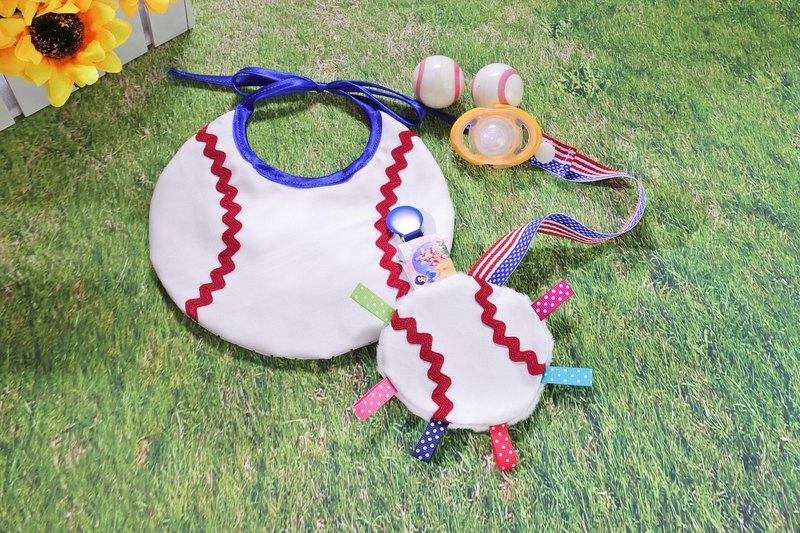 棒球造型 圍兜兜套組 彌月禮物
