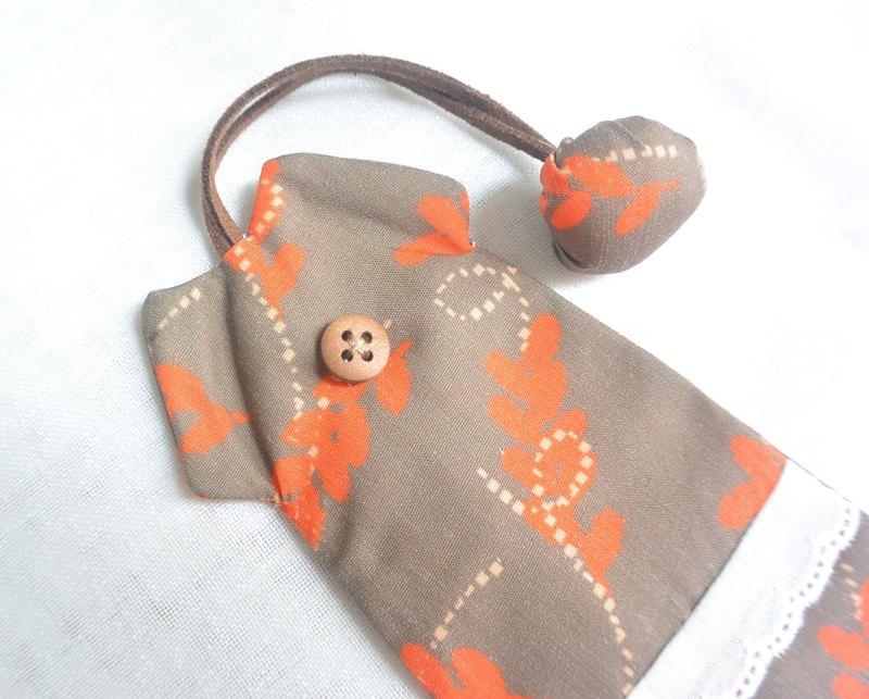 手感洋裝鑰匙包 - 秋葉