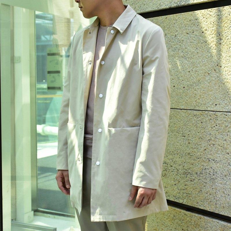 定制 寬身混紡大衣