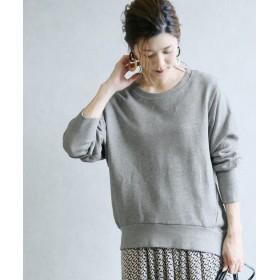レカ ロングリブドルマンスウェット レディース 杢グレー M-L 【reca】