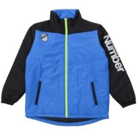 【セール】 ナンバー ジュニアスポーツウェア ジャケットコート ジュニア中綿ジャケット NB-F17-307-017 ボーイズ ブルー/ブラック