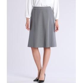 CLEAR IMPRESSION 《洗えるセットアップ》ポンチフレアスカート ミモレ丈・ひざ下丈スカート,チャコールグレー3