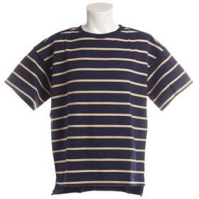 パワー・トゥ・ザ・ピープル(POWER TO THE PEOPLE) ボーダー 半袖Tシャツ 8512160-60NAV (Men's)