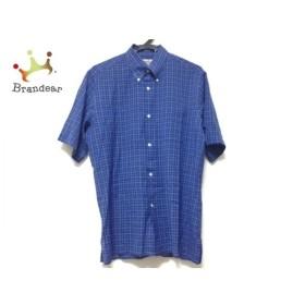 エルメス HERMES 半袖シャツ メンズ ブルー×ライトブルー チェック柄 新着 20191006