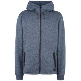 《セール開催中》QUIKSILVER メンズ スウェットシャツ ブルー S コットン 60% / ポリエステル 40% QS Felpa Kurow Zip Sherpa
