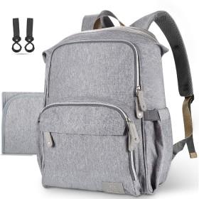 Hap Timマザーズバッグ リュック 大容量 防水多機能 ベビーバッグ ママのバックパック 旅行(5279grey)