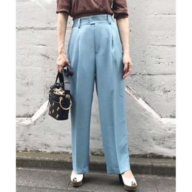 SALE開催中【aquagirl:パンツ】ストレートタックパンツ