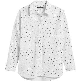 Banana Republic オーバーサイズ ベルベットドット ポプリンシャツ