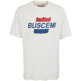 《セール開催中》BUSCEMI メンズ T シャツ ホワイト S コットン 100% AIRLINE PRINTED T-SHIRT