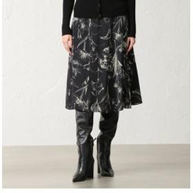 【EPOCA:スカート】ドローイングフラワースカート