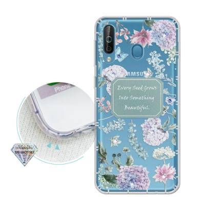 Samsung Galaxy A40s 浪漫彩繪 水鑽空壓氣墊手機殼(幸福時刻)