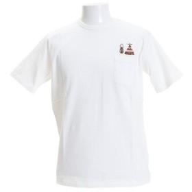 クリフメイヤー(KRIFF MAYER) 刺繍ポケットTシャツ キャンプ 1757201-1-WHT (Men's)