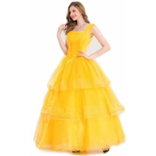美女と野獣 ベル 仮装 コスプレ コスチューム ハロウィン プリンセス ドレス 衣装