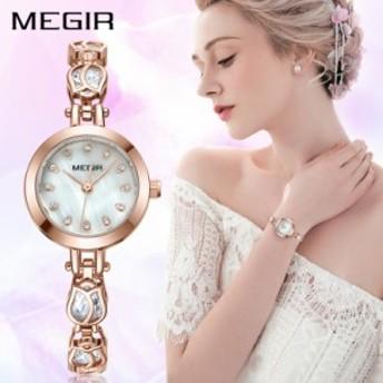 腕時計 レディース MEGIR 4198 クォーツ 防水 女性 ファッション エレガント