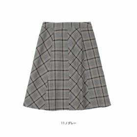 [マルイ] 【大きいサイズ】【L-5L】T/Rチェックスカート/フルールbyミントブリーズ(Fleur)