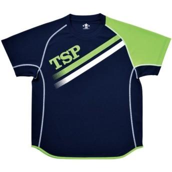 TSP (男女兼用 卓球用ウェア) TT - 175シャツ 033407 ネイビー/ライム O