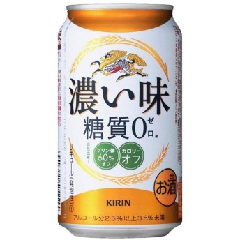 ケース キリン 濃い味 糖質ゼロ 350ml缶×24本 第3ビール 発泡酒ビール 発泡酒 お酒 酒 麒麟 24缶 1ケース 忘年会 パーティーあすつく