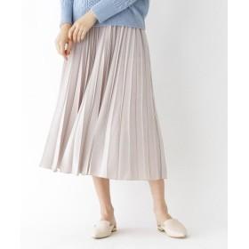 DRESSTERIOR / ドレステリア スエードサテンアコーディオンプリーツスカート