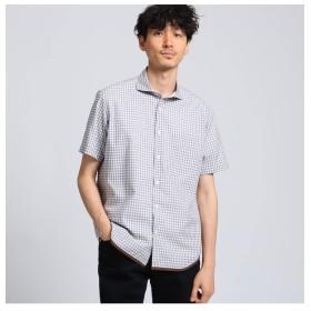 【タケオキクチ/TAKEO KIKUCHI】 ハケメギンガムチェックシャツ