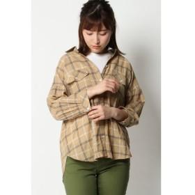 【イッカ/ikka】 綿シャーリングシャツ