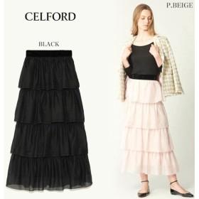 SALE50%OFF CELFORD セルフォード ティアードスカート cwfs184129 キャッシュレス5%還元