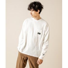 Discoat(ディスコート) メンズ 【WEB限定】Discoat×KANGOL別注ポケット付きビックT ホワイト