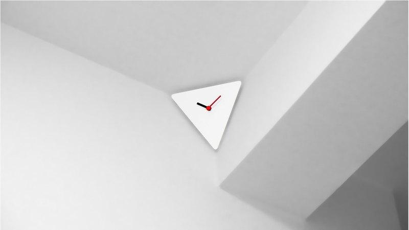 終極角落時鐘(白色)