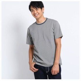 【タケオキクチ/TAKEO KIKUCHI】 サーフ ドット フェイクレイヤード クルーネック Tシャツ