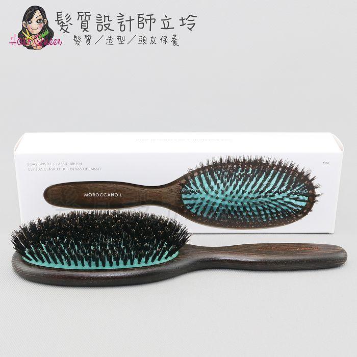 立坽『美髮器材』歐娜國際公司貨 Moroccanoil 木質熱力大板梳(野豬鬃毛包頭梳) HM17