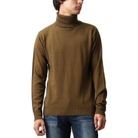 [REPIDO (リピード)] タートルネック メンズ ニット セーター カシミアタッチ ハイネック タートル カシミア カーキ Lサイズ