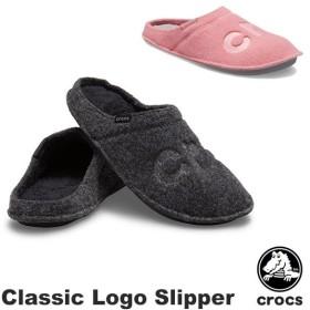 クロックス CROCS クラシック ロゴ スリッパ classic logo slipper メンズ/レディース スリッパ 男女兼用 [BB]