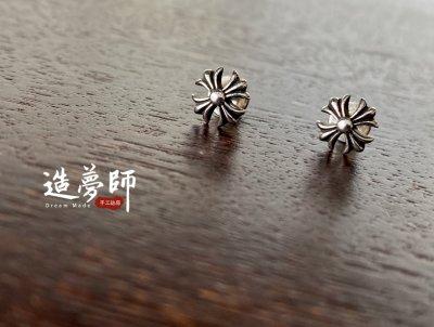 造夢師【Chrome Hearts】【復刻】克羅心 #2 CH Plus Stud 十字 925純銀 耳環Earring