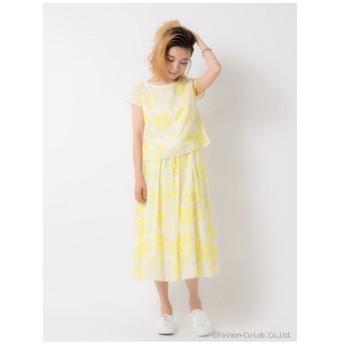 Auntie Rosa / AUNT MARIE'S(アンティローザ / アントマリーズ)【Aunt Marie's】 国産水彩花柄ボリュームスカート