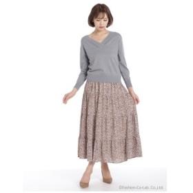 Lilou de chouchou(リルデシュシュ)小花ティアードロングスカート