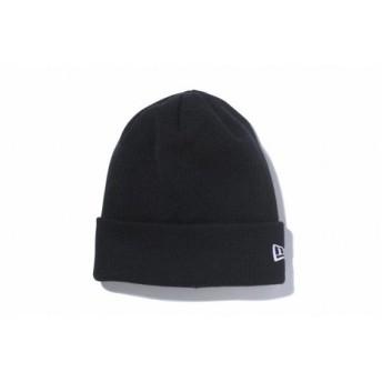 ニューエラ(NEW ERA) 11120507 BACIC CUFF KNIT Mウインター衣料小物 BLK ビーニー ニット帽 (Men's、Lady's)