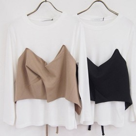 SALE50%OFF バイヤーズセレクト Buyers Select ビスチェ付ロングTシャツ 8472-236 キャッシュレス5%還元