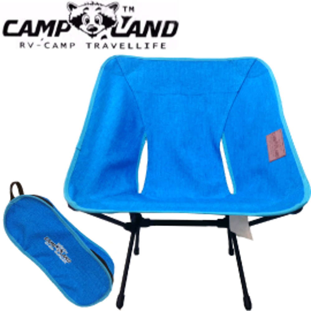 【CAMP LAND Butterfly Chair小浣熊彩蝶椅 藍】RV-ST960/摺疊椅/野餐椅/折疊椅/釣魚椅/休閒椅