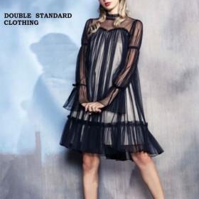 SALE50%OFF DOUBLE STANDARD CLOTHING ダブルスタンダード Sov.Aラインチュールワンピース 0301-240-191 キャッシュレス5%還元