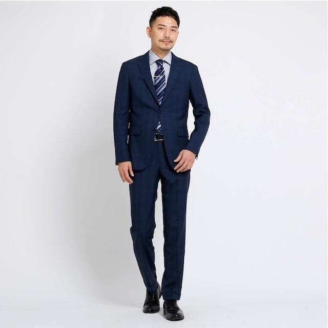 【タケオキクチ/TAKEO KIKUCHI】 【PNJ】小杢格子柄スーツ[ メンズ スーツ ビジネス 日本製 ]
