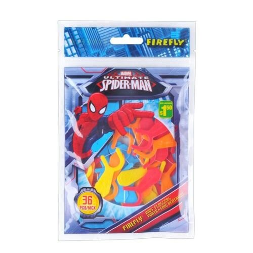 Spider Man 蜘蛛人兒童專用學習造型牙線36支★愛兒麗婦幼用品★